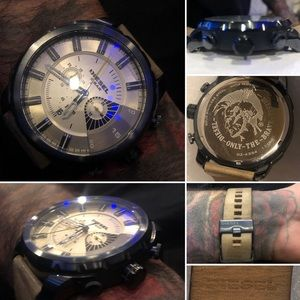 NWOT Authentic Diesel Only The Brave Men's Watch